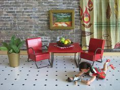 Miniature Dollhouse Furniture 1938 STROMBECKER Modern by TheToyBox