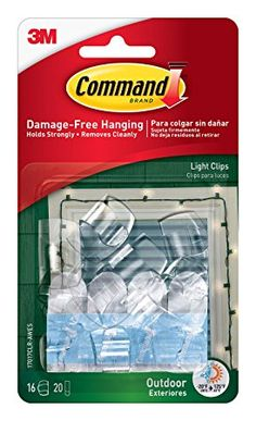 Command of Outdoor Light Clips, Hang Lights Damage-Free Hanging Christmas Lights, Outdoor Christmas Decorations, Holiday Lights, Christmas Diy, Xmas, Picture Framing Materials, Picture Framing Supplies, Strip Lighting, Outdoor Lighting