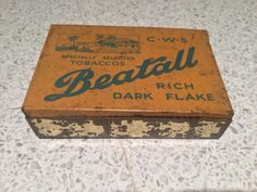 CWS Beatall Tobacco tin -AUCTION ENDS 25 Jan, 2018 21:16:04 GMT