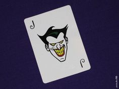 The joker's playing card