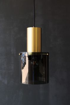 Original BTC Walter Brass Pendant Ceiling Light