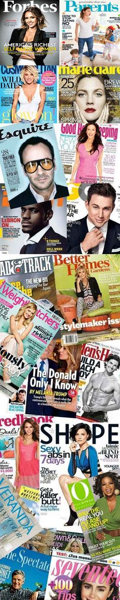 23 FREE Magazines Today: Forbes, Parents, Saveur, Weight Watchers, Marie Claire, Cosmopolitan, Esquire, Seventeen, Good Housekeeping, Oprah, Veranda, ESPN, GQ, Shape, Better Homes and Gardens, Wine Spectator, Road & Track, Diabetic Living, US Weekly, Men's Health, Redbook, Western Horseman And Town & Country
