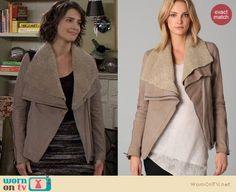 Robin's light brown open jacket on How I met your mother. Outfit Details: http://wornontv.net/540  This jacket is on eBay for $750!