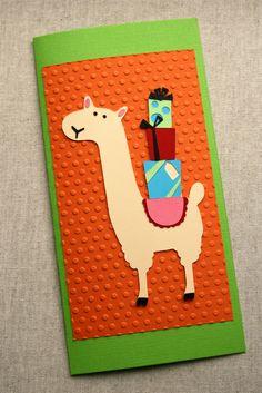Funny Card FABULOUS LLama Blank Greeting Card by rainbowofcrazy