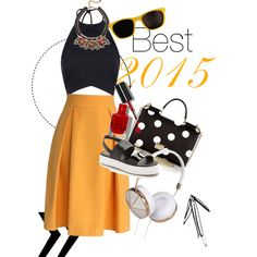 Best 2015 by gaojuan on Polyvore featuring Chicwish, Jeffrey Campbell, Dolce&Gabbana, Nocturne, Frends, Moschino and Bobbi Brown Cosmetics