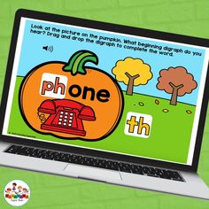 Pumpkin Themed beginning digraphs practice activities. This set of 24 Boom Cards was designed to help students beginning digraphs. This set is great for distance learning activities with has a cute pumpkin theme. Students will drag and drop the correct beginning digraphs to complete the word on the pumpkin. Teacher Created Resources, Teacher Resources, Kindergarten Activities, Learning Activities, English Language Arts, Hands On Learning, Cute Pumpkin, Student, Words