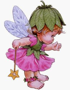 Clipart Baby, Cute Fairy, Baby Fairy, Cute Images, Cute Pictures, Image Deco, Decoupage, Art Aquarelle, Holly Hobbie