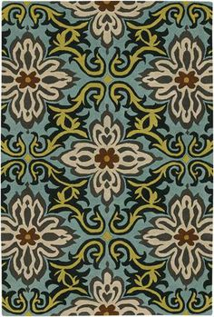 Fabric design reference__RugStudio presents Chandra Amy Butler AMY13202 Hand-Tufted, Good Quality Area Rug