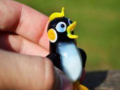 Art Glass Penguin Figurine Blown Penguin Sculpture Animals | Etsy Penguin Animals, Glass Animals, Animal Decor, Black Decor, Glass Collection, Small Gifts, Penguins, Halloween Decorations, Glass Art