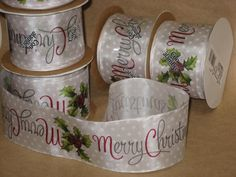 New 10 yards Merry Christmas Ribbon Wired 2-1/2 Holiday