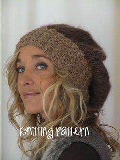 Berberis slouchy hat knitting pattern