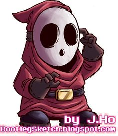 Today I've got a Shy Guy for you, from the world of Super Mario Brothers . I've taken a few liberties, but overall this is a pretty straigh. Super Mario Brothers, Super Mario Bros, Shy Guy, All Art, Fashion Art, Cool Pictures, Video Games, Cosplay, Superhero