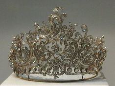 Württemberg Rococo Tiara, Germany (1896; made by Eduard Foehr; diamonds).