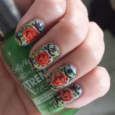 """Fall watercolor fox nails, so adorable! Base is @zoyanailpolish Leah and the watercolor effect was created with @sally_hansen Xtreme Wear in Royal Shyness…"""