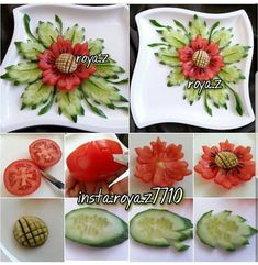 Beauty belongs to everyone. Cute Food, Good Food, Food Art For Kids, Creative Food Art, Fruit And Vegetable Carving, Food Carving, Food Garnishes, Garnishing, Food Decoration
