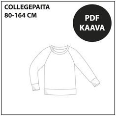 Ilmaiset ompelukaavat Archives ⋆ Page 2 of 4 ⋆ Jujuna Sewing Patterns For Kids, Sewing For Kids, College Shirts, Cross Top, Pdf, Design, School, Crafts, Kids Sewing Patterns