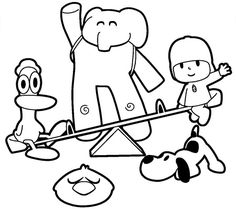 Pocoyo coloring picture Coloring Pages Pinterest Pocoyo