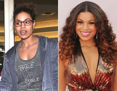 Jordan Sparks: with and without make-up