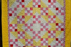 Moon and Stars Baby girl Quilt Toddler by raincityquilts on Etsy, $89.00
