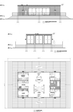 Shipping Container Plan and Section Details Residential Shipping