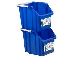 Perfect for storing recycle bins in your pantry