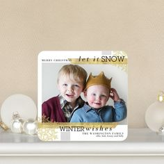 Washi Crystals - Holiday Photo Cards by Hello Little One for Tiny Prints