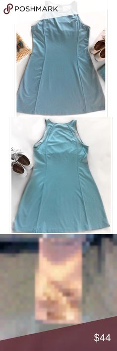 Tiffany Blue Tennis Dress Nike. Thick Athletic Tennis Dress. Built in sport bra. Excellent barely pre-loved condition. Worn 2 half days & handwashed with much love & care. Polyester Spandex. Vertical reinforced stitching. Bundle for a fantastic discount. Also open to offers. Size Large. Nike Dresses