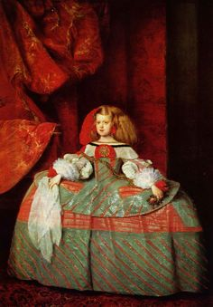 The Infanta Maria Marguerita in Pink - Diego Velazquez (painting finished by another painter after the death of Velasquez)