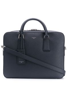 Sandro Downtown Laptop Bag In Blue Sandro, Laptop Bag, Shoulder Strap, Women Wear, Mens Fashion, Paris, Leather, Blue, Moda Masculina