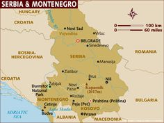 Image detail for -Map of former Union of Serbia and Montenegro (Yugoslavia).