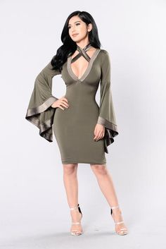 Faire Lady Dress - Olive