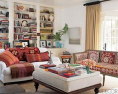 Amazing Ethnic Living Room Style With New Ideas Design Prints And The Books White Bookshelf Sofa Table