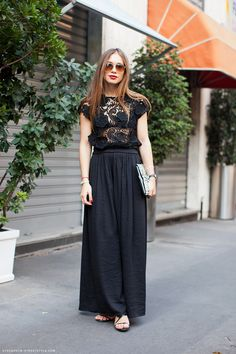 with a maxi skirt