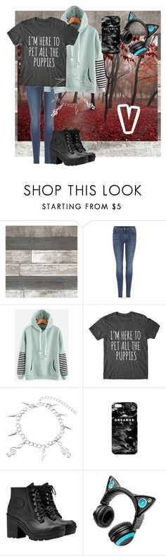 """Kim Taehyung"" by steampunk-flyer ❤ liked on Polyvore featuring 7 For All Mankind, Mr. Gugu & Miss Go, Hunter and Brookstone"