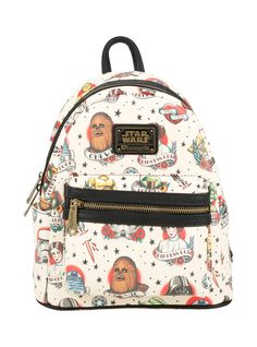 Loungefly Star Wars Classic Tattoo Art Mini Backpack | Hot Topic