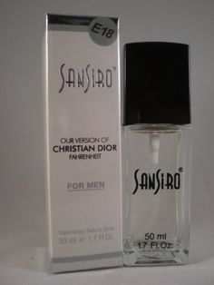 Our Version of Fahrenheit By Christian Dior for Men 1.7 Oz (50ml) by SanSiro. $6.95. Woods for men, Daytime/Casual use. Long Lasting (made with imported scents from France and Switzerland). honeysuckle, sandalwood and balsam.. 100% Satisfaction Guaranteed. Why pay more...SAVE BIG!!! (Check out our amazon store for many more options). Our Version of Fahrenheit By Christian Dior for Men.  Vaporisateur Natural Spray 50ml (1.7fl.oz)(SanSiro is not associated with Christian Dior. F...