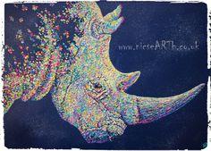 'Vanishing' - #Rhino #EndangeredAnimals #Animal #Art #Impasto #Acrylic Find out more about this painting at www.nicsearth.com