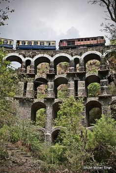 The Kalka Shimla Railway (Toy Train) is a UNESCO World Heritage Site and a highlight of many of our rail tours to India http://www.greatrail.com/train-journeys-of-the-world/toy-train.aspx