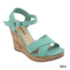 DIVIANA KEALIE-01 Women's Crisscross Wedge Sandals With Buckle Ankle Strap, Color:MINT, Size:6 Diviana,http://www.amazon.com/dp/B00I0QDE3Q/ref=cm_sw_r_pi_dp_zWzttb0DWM1QY6K8