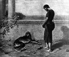 Argos was the faithful dog of Odysseus, who during The Odyssey (written by Homer about 3000 years ago), takes 20 years to find his way home and is only recognized by his dog.