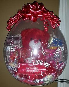 "I love you ""18 Stuffed balloon. By niftygiftsbystacy"