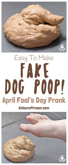FAKE DOG POOP PRANK! Kids will love making this Fake Dog Poop! Such great fun for pranks and April Fool's Day! #aprilfoolsday #prank #joke #aprilfoolsjoke #fakepoop #trick