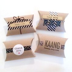 18 blank pillow kraft boxes - pillow favor box - wedding favors kraft boxes - gift boxes - kraft pillow box - gift wrapping - paper goods