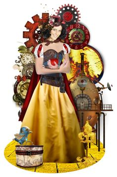 """Steampunk Tales:  Snow White - TAS 03/18/17"" by mimi1207 ❤ liked on Polyvore featuring art"