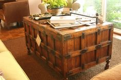 LOVE this antique chest at Bradfords Interiors