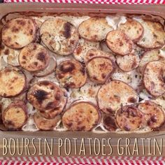 boursin potatoes gratin