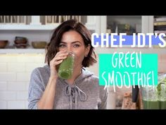 This is Jenna Dewan Tatum's signature green smoothie recipe, which features a surprising secret ingredient. Best Green Smoothie, Healthy Green Smoothies, Healthy Breakfast Smoothies, Healthy Detox, Fruit Smoothies, Green Juice Recipes, Green Smoothie Recipes, Smoothie Packs, Jenna Dewan