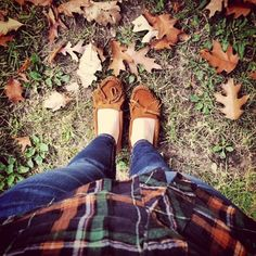 A picturesque day featuring our favorite style combo for fall, plaid and a pair of Kilty mocs.