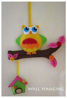 Creative Academy Bangalore: Felt Owl Wall Hanging