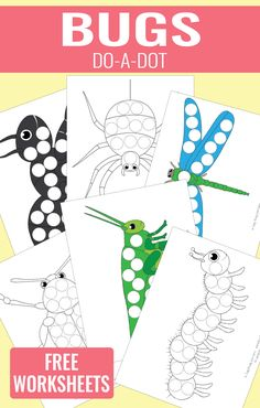 Free Bug Do-a-Dot Printables - Thrifty Homeschoolers Insect Crafts, Bug Crafts, Preschool Themes, Preschool Activities, Dots Free, Vip Kid, Theme Nature, Do A Dot, Toddler School